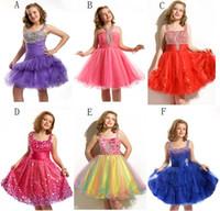 Beads little girl dresses - 2013 Halter Style flower girl dress little girl dress Flower Little Girl Pageant Wedding Dress