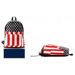 Wholesale Hot Canvas US USA Flag Punk BackPack Shoulder GYM Bag Handbag Duffle School