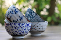 Wholesale Vintage Hand Painted Japanese Porcelain Rice Bowl Plum Blossom Design inch Bowl Set of