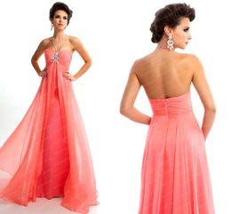 Wholesale 2014 New Arrivals Customized Long Aqua Halter Prom Dress Beaded A Line Chiffon Empire Summer Beach Evening Gown L