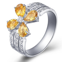 Asian & East Indian Women's Party hot sale!925 sterling silver ring,Natural Citrine Ring fashion jewelry SR0179C