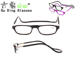 Wholesale 2013Surface freight fashion folding plastic magnet telescopic reading glasses to send men and women in the old man s Christmas gift GUDING