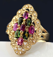 Wholesale Tourmaline ring Gemstone ring Natural real tourmaline Fine jewelry Perfect Jewelry sterling silver DH