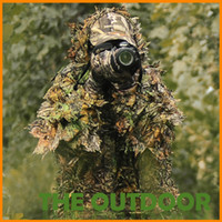 Wholesale Free Size Professional bionic camouflage leaf looking D hunting clothes Safari suit
