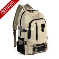 Wholesale men luggage amp travel bags travel bag middle school students school bag double shoulder male backpack canvas the school knapsack