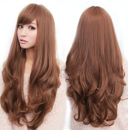 Wholesale quot The Best Wigs Long Heat Resistant Big Spiral Curl Wig Brown cm