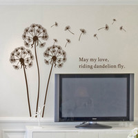 Cheap Mix Order45*65cm High Quality 3pcs lot Guarantee100% A++++++ Hot-sales Brand New Dandelion decorate the living room wall stickers