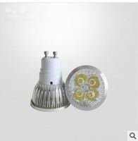 Wholesale High power LED w GU10 car aluminum lamp cup shoots the light H60 mm warm white is white light bulb