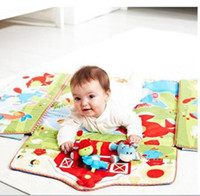 baby fence - Hot Sale Retail Latest game pad toy in multifunctional baby game pad game blanket with fence baby toys cute animal shaped bracket