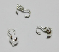 Wholesale Sales Silver Plated Bead Tips End Crimps mm