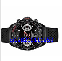 Luxury Men's Mechanical Automatic wholesale- Brand Mens New Mens Grand Calibre 17 CAV511A Black Rubber band Bangle Date Men's Watches Men's Watches