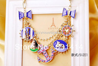Wholesale European Brand Navy Style Necklace Anchor Exaggeration Short Paragraph Crocodile Skull Designer Inspired Jewelry