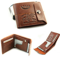 Wholesale Fashion Mens Genuine Leather Bifold Wallet Credit ID Card Holder Slim Purse Hot