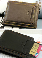 Wholesale New Fashion Men s Leather Wallet Purse Credit Card Holder Bifold Color Choice