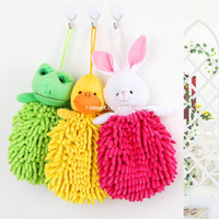 Wholesale Chenille doll three dimensional animal head thickening towel k1252