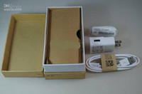 Wholesale Cell Phone Boxes for samsung s4 i9500 s3 with US Accessories usb charger earphones