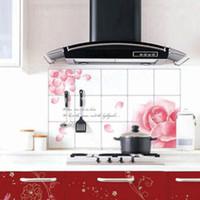 Graphic vinyl PVC Animal Quality aluminum foil oil pollution smoke tile kitchen cabinet decoration stickers e7419