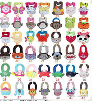 Animal Feed - D Cartoon Towel Baby Bibs layer waterproof baby Feeding Animal Button bibs colors feedings
