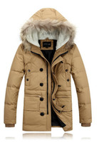 Wholesale 2013 New Fashion men s Down coat Male winter Thickened business white eiderdown feather down parkas