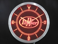 Wholesale nc0101 Dr Pepper Drink Pub Bar Neon Sign LED Wall Clock