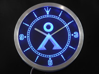 Wholesale nc0241 Stargate SG Milky Way Glyphs Neon Sign LED Wall Clock