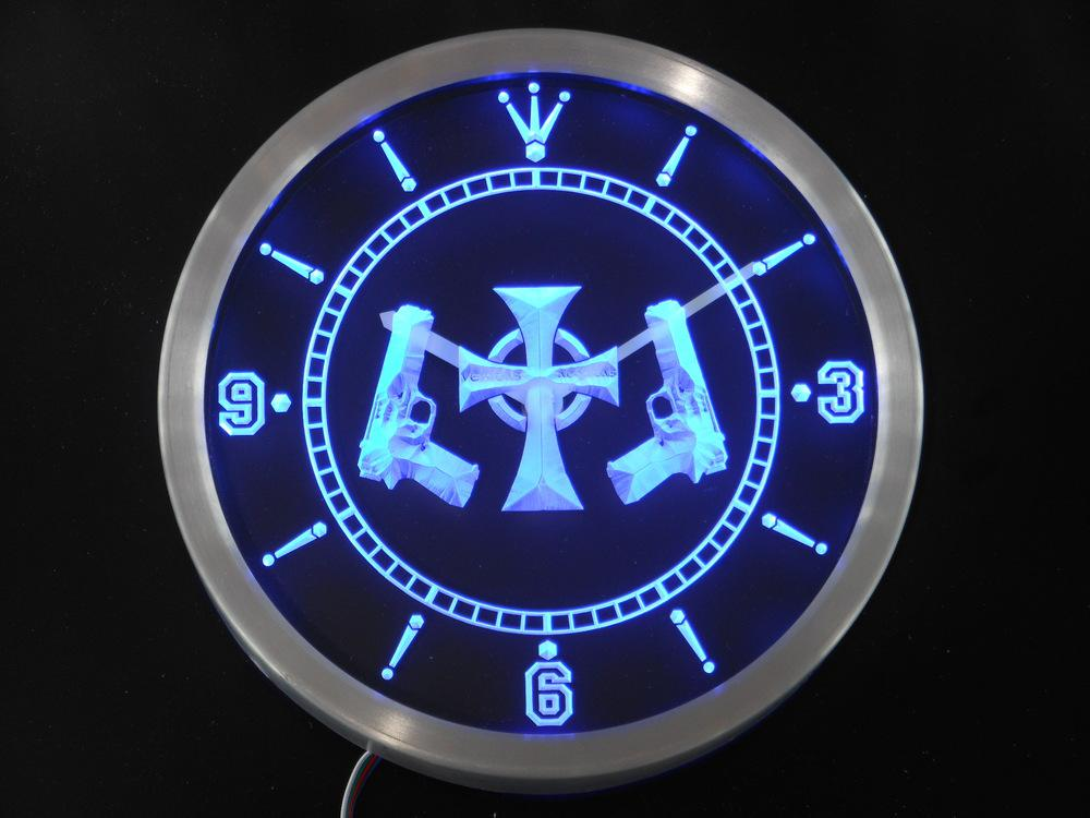 Nc0232 Boondock Saints Neon Sign LED Wall Clock Online with $32.94 ...