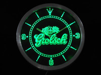 Wholesale nc0002 g Grolsch Beer Neon Sign LED Wall Clock