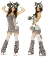 ape suits - Silver Ape Suit Halloween Costume Cosplay Game Hairy Elephant With