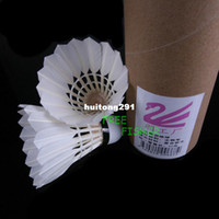 Wholesale 1 Dozen White Feather Shuttlecocks Badminton