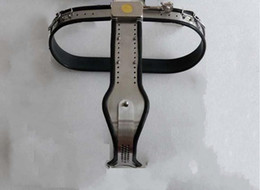 Wholesale 3 colors Female Adjustable Model T Stainless Steel Chastity Belt with Locking Cover