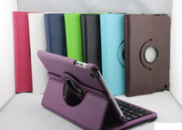 Wholesale Whole Bluetooth keyboard with rotating cover case holster for ipad mini protective sleeve to rotate degrees