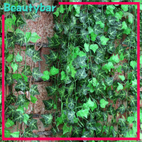 Wholesale freeshipping Artificial Ivy Vine Green Leaves Foliage Plant Wedding Party Home Decor
