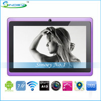 Wholesale Q88 Q8 inch A13 Tablet PC Android With Dual Camera WiFi Skype Flash11 Allwinner A13