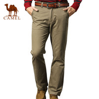 Wholesale Camel Camel trousers new winter cotton trousers comfortable business casual trousers straight jeans