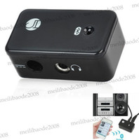 Wholesale BT AU01 Wireless Bluetooth V2 Stereo Receiver Adapter for Car Home Speaker Black MYY5868