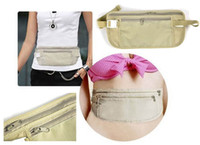Wholesale Travel ultra thin personal hidden close fitting pockets bag Prevent stolen wallet with zipper
