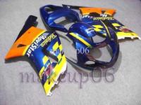 Wholesale GSXR600 GSX R750 Telefonica yellow blue Body Kit Fairing for Suzuki GSXR GSX R750 GSX R K1 Fr