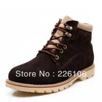 Wholesale Luxury Man Flat Shoes Winter Genuine Martin boots Fall Leather Ankle Cowboy Punk Outdoor Hiking Warm Snow Boots