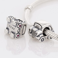 Silver london necklace - S925 Sterling Silver Screw London Cab Bead Fits European Pandora Jewelry Charm Bracelets Necklaces Pendants