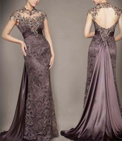 Sexy Lace Prom Dresses Beading Backless Long Party Pageant F...