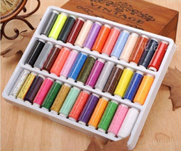 Wholesale 39 x200 Yard Reel Mixed Colors Spools Polyester Sewing Thread For Hand amp Machine