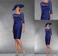 Wholesale 2013 Beach Mother of the Bride Dresses A line Royal Blue Ruffles V neck Knee Length Wedding Party Guest Gown Shop Online