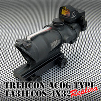 Red Dot & Laser Scope acog doctor sight - ACOG TA31 X32 scope with Doctor auto red dot sight scope black
