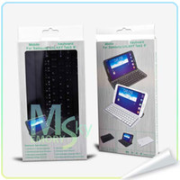 Wholesale New Rechargeable Wireless Bluetooth keyboard Smart Cover Case for Samsung Galaxy Tab3 Tab T310 T311 inch tablet