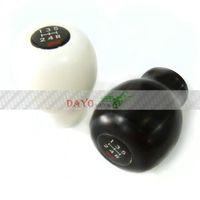 Wholesale HQ New STI Aluminum Shift Knob Sports Racing Gear Stick Black White For Subaru Car MT MT