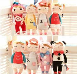 Wholesale EMS Metoo Angela Stuffed Kids Toy Child Story Helper Plush Dolls Children Bolster Gift Packing Box Styles Height CM D0070