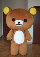 Wholesale Hot selling Janpan Rilakkuma bear Mascot Costumes Adult Size high quality Halloween Party