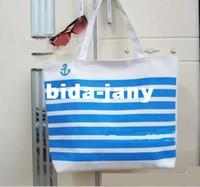 other cheap beach bag - Hot canvas fabric bag casual beach bag shopping shoulder bag handbag print canvas bag Cheap new handbag blue plaid