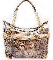 Wholesale 2013 hotsale Sexy Leopard Bag Independant lining pvc Classic shoulder bag brand name handbag fashion tote