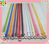 Wholesale mm wide cm length PU Leather bracelet fit for mm diy slide charms
